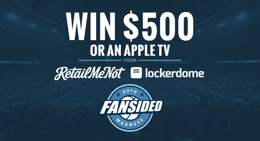 Fansided Madness Win 500 Or An Apple Tv From Retailmenot And Lockerdome